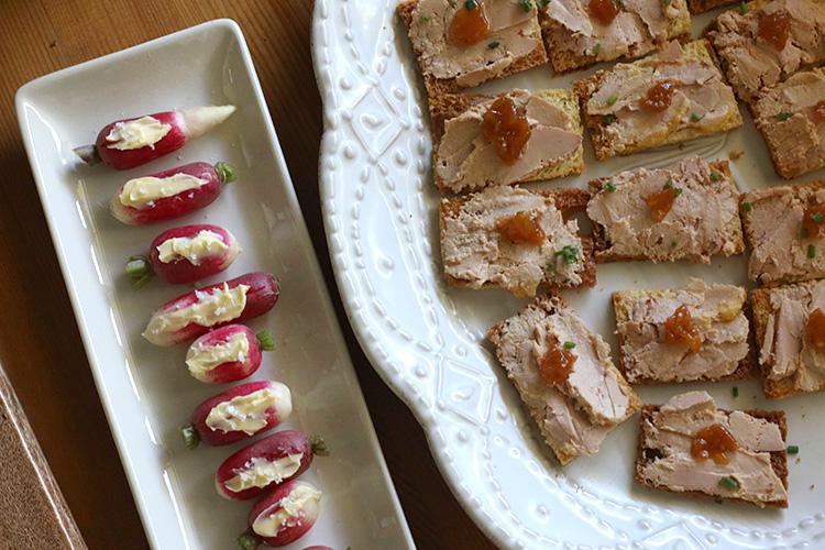 foie and radish